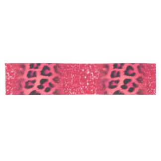 Imitat-rosa Glitzer-Leopard-Stellen für jugendlich Kurzer Tischläufer