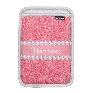 Imitat-rosa Sequins und Diamanten iPad Mini Sleeve