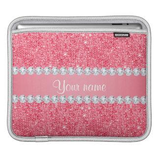 Imitat-rosa Sequins und Diamanten Sleeve Für iPads