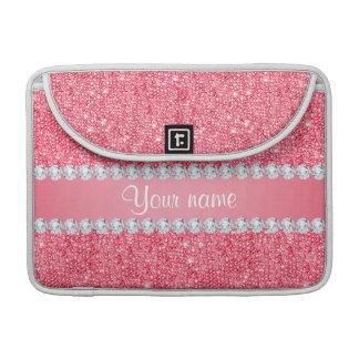 Imitat-rosa Sequins und Diamanten Sleeve Für MacBook Pro