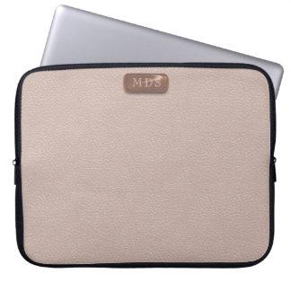 Imitat-Rosen-Goldmonogramm erröten rosa Laptop Computer Schutzhülle