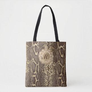 Imitat-Schlangen-Haut-Antiken-Charme-Initiale Tasche