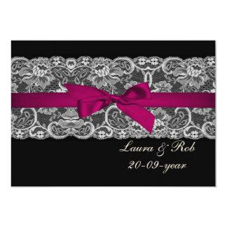 Imitat schnürt sich und rosa schwarze Hochzeit des Individuelle Ankündigungen