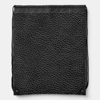 Imitat-schwarzes Leder Turnbeutel