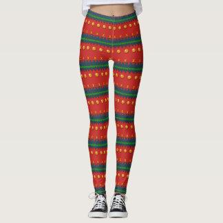 Imitat strickte hässliche rote Weihnachtsgamaschen