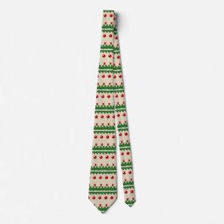 Imitat strickte hässliches Weihnachtsnostalgischen Personalisierte Krawatten