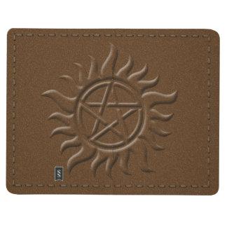 Imitatledernes nähendes Pentagram-Buch der Taschennotizbuch