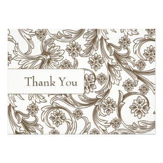 IMITATpapierausschnittbraun-Hochzeitsdanke Karten Einladungen