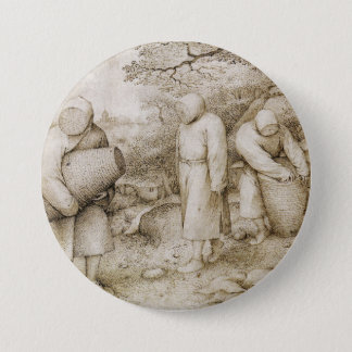 Imker durch Pieter Bruegel das Älteste Runder Button 7,6 Cm