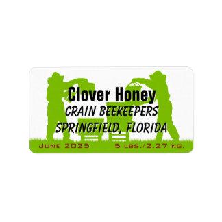 Imker-personalisiertes Honig-Glas Adressaufkleber