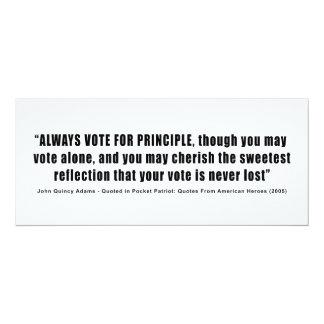 Immer Abstimmung für Prinzip John Quincy Adams 10,2 X 23,5 Cm Einladungskarte