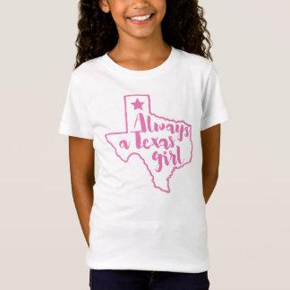 Immer ein Texas-Mädchen-Rosa-T - Shirt