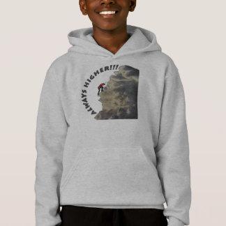 Immer höher inspirierend Entwurf Hoodie