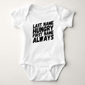 Immer hungrig baby strampler