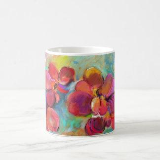 Immer Rosie rote Blumen-Tasse Kaffeetasse