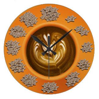 Immer Zeit für Kaffee und Plätzchen - Wanduhr