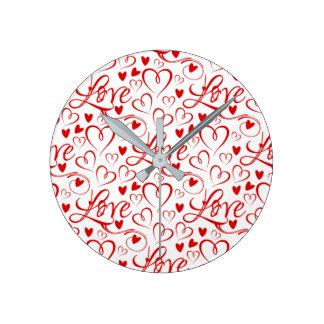 Immer Zeit für Liebe-(Liebe und Herzen) Uhr