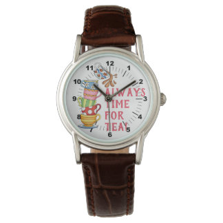 Immer Zeit für Tee Armbanduhr