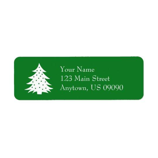 Immergrüne Weihnachtsbaum-Adressen-Etiketten