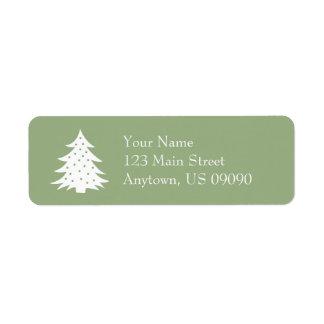 Immergrünes Weihnachtsbaum-Adressen-Etiketten