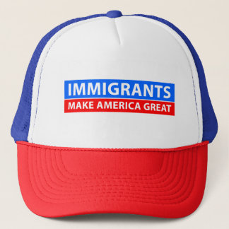 Immigranten machen Amerika groß - Truckerkappe