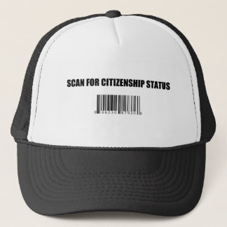 Immigrations-Barcode Truckerkappe