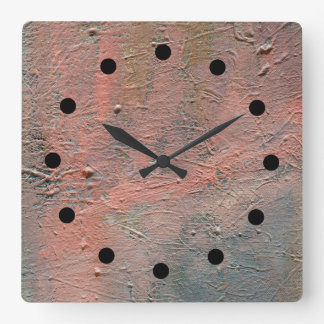 Impasto abstrakte Acryluhr Quadratische Wanduhr