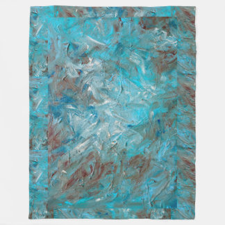 Impasto aquamarine Fleece-Decke Fleecedecke
