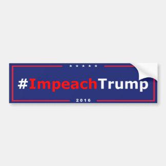 #ImpeachTrump Antitrumpf-Autoaufkleber Autoaufkleber
