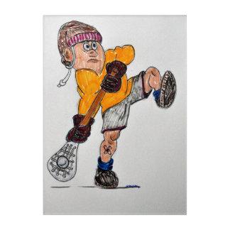 Impression En Acrylique joueur de lacrosse