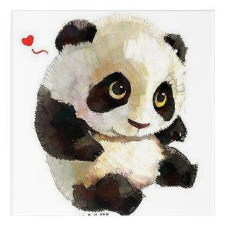 Impression En Acrylique le meilleur panda noir et blanc mignon et avec du
