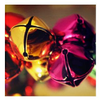 Impression En Acrylique Oeuvre d'art de Bells de Noël