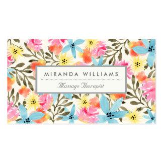 Impression florale de paradis carte de visite standard
