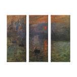 Impression, lever de soleil par l'impressionisme toiles tendues