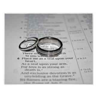 Impression Photo Copie de beaux-arts d'anneaux de mariage