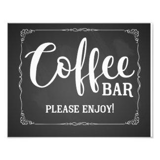 Impression Photo tableau de signe de mariage de café