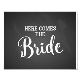 Impression Photo voici venir le tableau de signe de mariage de