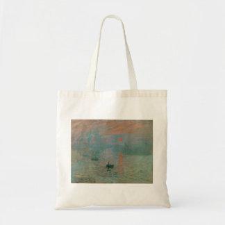 Impression, Soleil Levant par Claude Monet 1872 Sac En Toile Budget