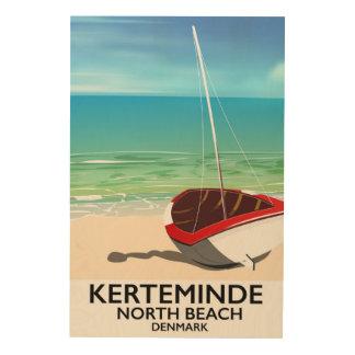 Impression Sur Bois Affiche du nord de voyage du Danemark de plage de