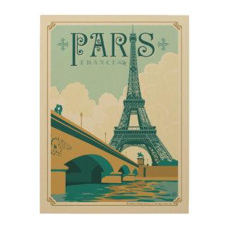 Impression Sur Bois Paris France - Tour Eiffel