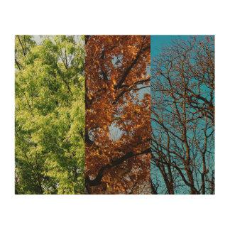 Impression Sur Bois Trois saisons