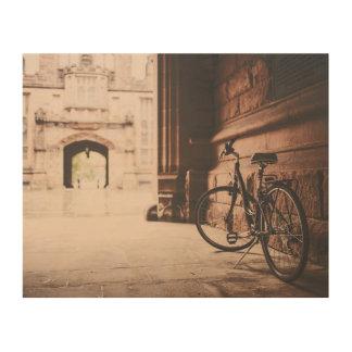 Impression Sur Bois Vélo vintage