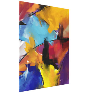 """Impression sur toile, Extra-Grand, """"Abstract 1412"""" Toiles Tendues Sur Châssis"""