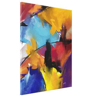 """Impression sur toile, moyen modèle """"Abstract 1412"""" Impression Sur Toile"""