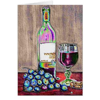 Impressionistische Wein-und Trauben-Kunst Karte