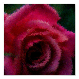 Impressions dans la copie rose de toile posters