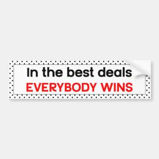 In den besten Abkommen gewinnt jeder Autoaufkleber