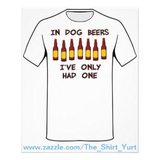 In den Hundebieren habe ich nur ein gehabt 11,4 X 14,2 Cm Flyer