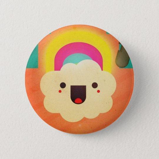 In den Regenbogen Runder Button 5,7 Cm