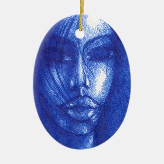 In der blauen Farbe Keramik Ornament